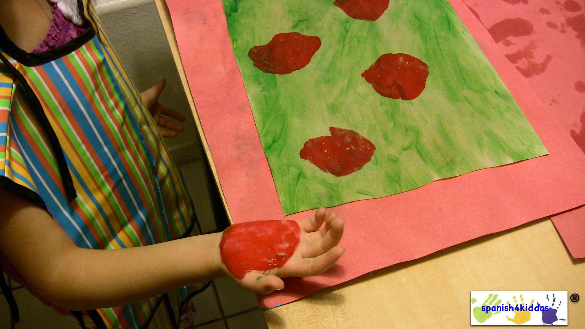 Finger Paint With Red Spanish4kiddos Educational Resources