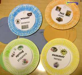 Spanish learning activity: Seasons - Spanish4Kiddos Educational Resources