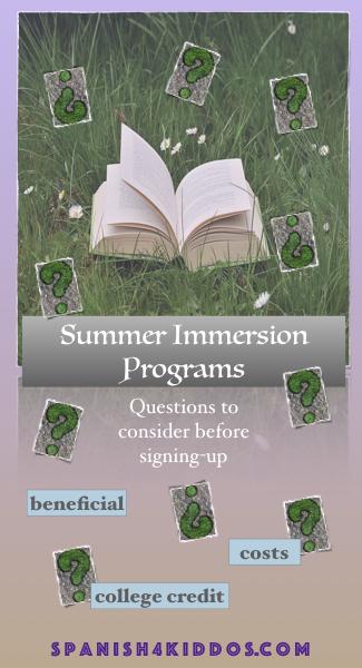 summer immersion programs