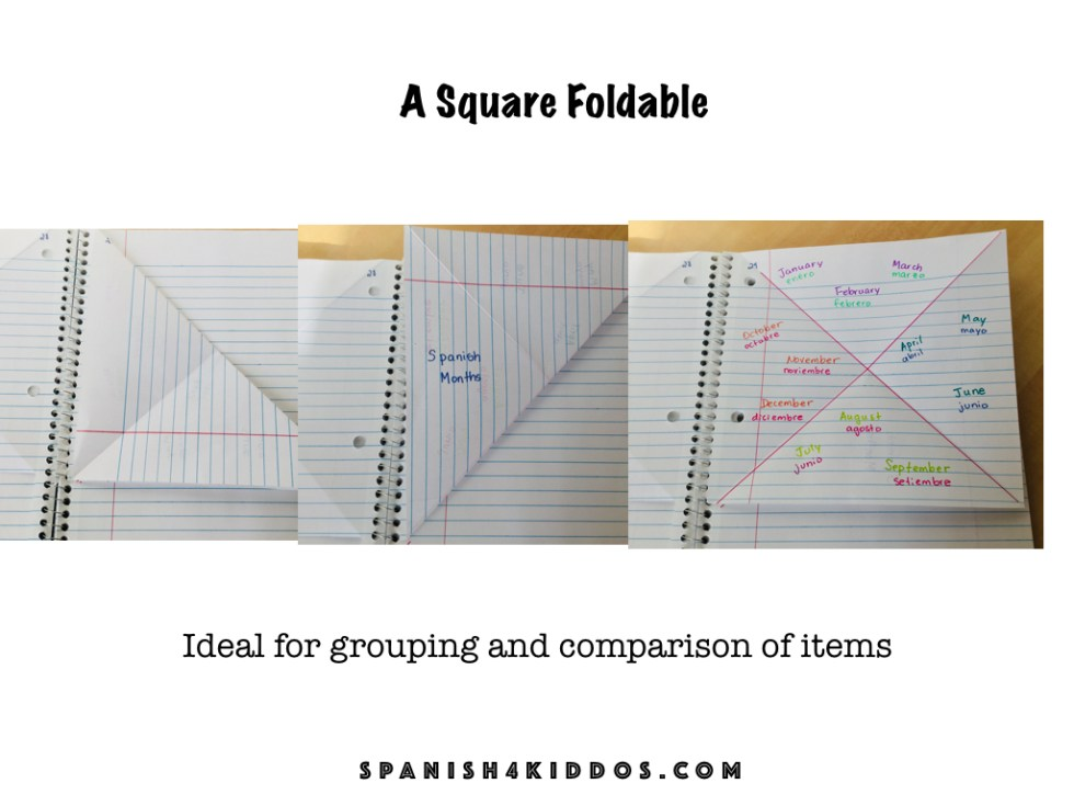square fold graphic organizer for interactive notebooks