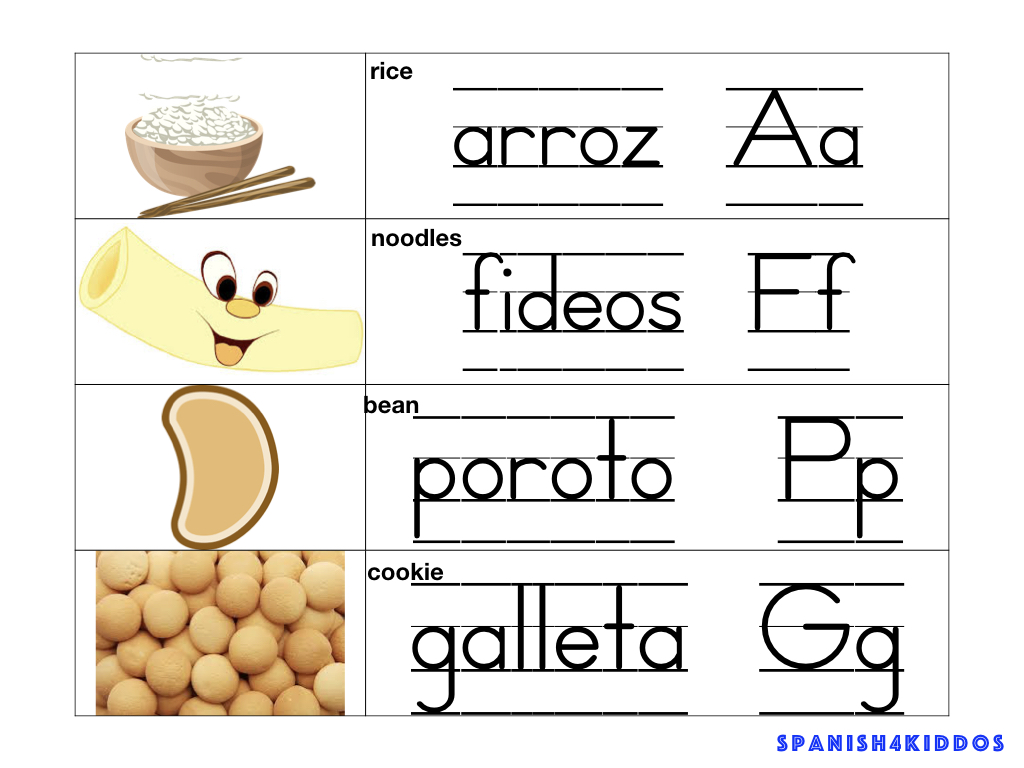 sensory bin food items