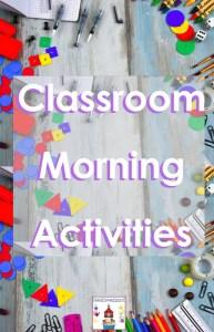 classroom morning activities