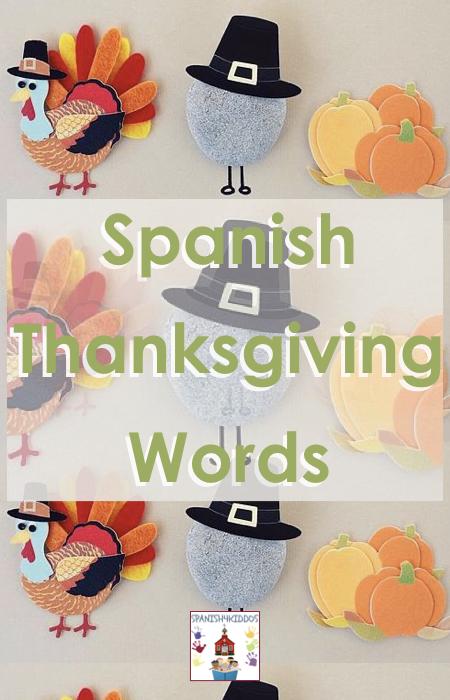 Spanish Thanksgiving words