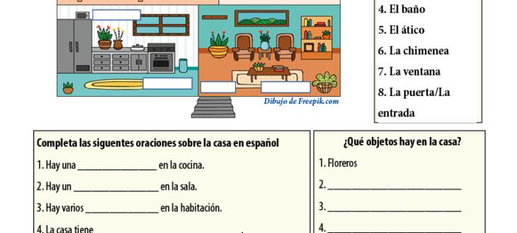 Spanish Worksheets 3 4 Spanishlearninglab