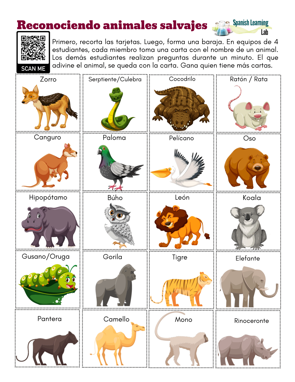 Recognizing Wild Animals In Spanish