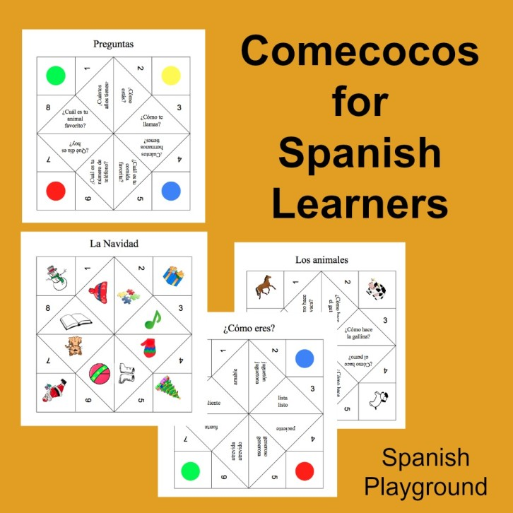 Spanish Game Printable Cootie Catchers Spanish Playground