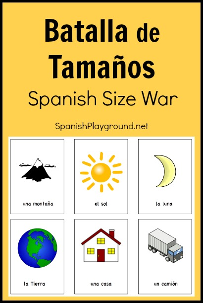 Printable Spanish Game For Kids Batalla De Tamaos