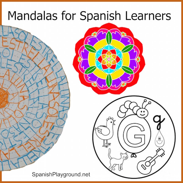 mandala coloring pages for spanish learners spanish playground