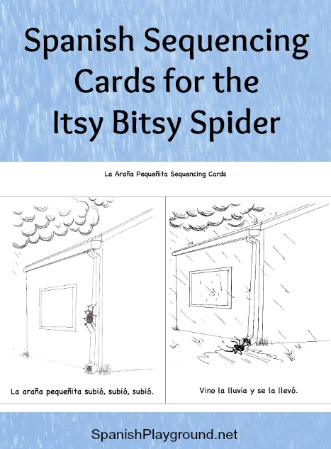 Spanish Sequencing Cards The Itsy Bitsy Spider Spanish