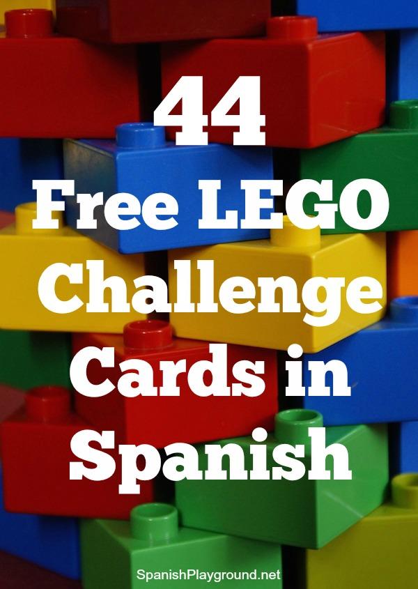 LEGO Challenge Cards In Spanish Spanish Playground