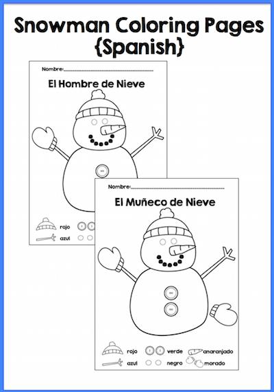 Free Spanish Winter Activities From TpT Spanish Playground