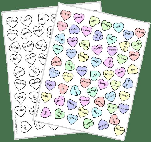 Printable Spanish Bingo For Valentines Day Spanish