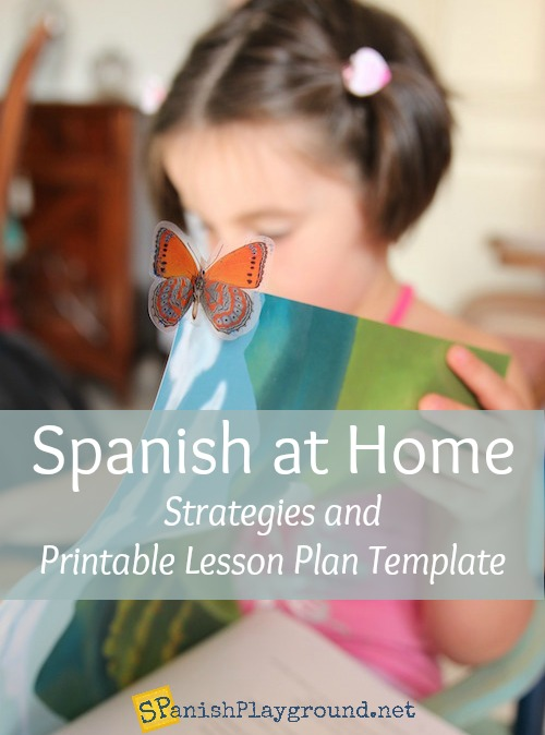 Spanish at Home  Strategies and Lesson Plan Template   Spanish     Spanish at Home  Strategies and Lesson Plan Template