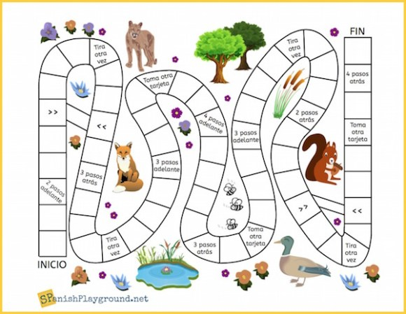 game board animals