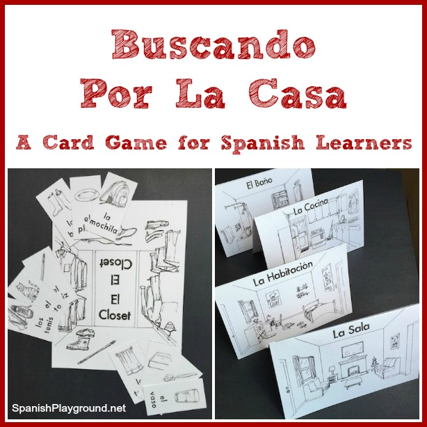 Printable Spanish Card Game For House Vocabulary Spanish