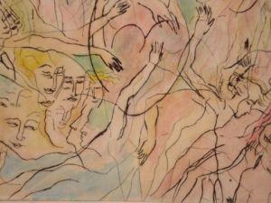 acryl op canvas met bladgoud, 2010