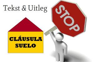 Tekst En Uitleg Over De Problematische Cláusula Suelo In Spanje