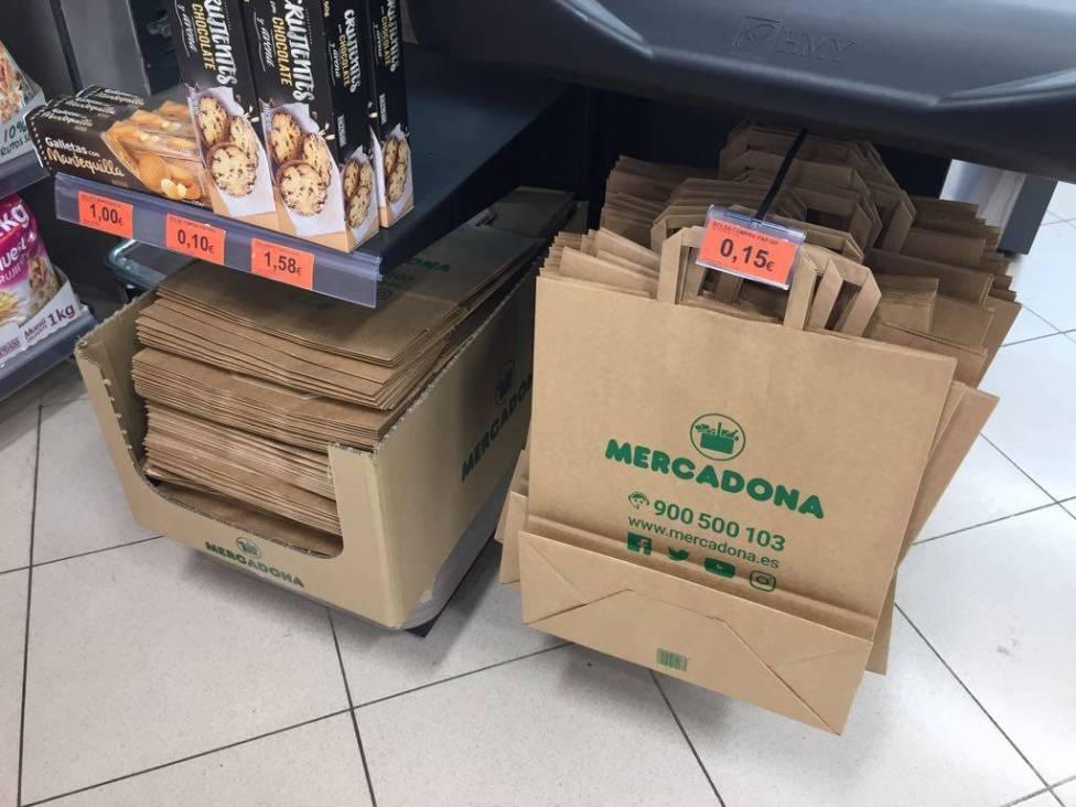 Kartonnen tassen en dozen Mercadona Spanje