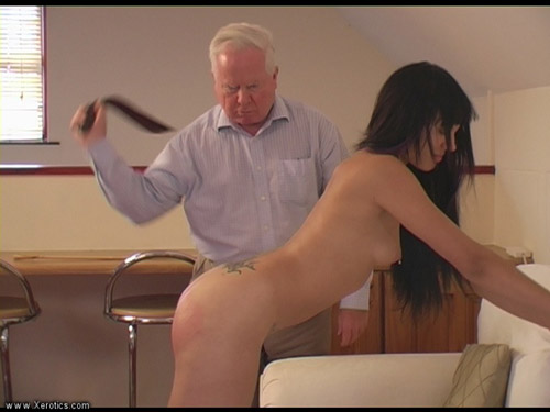 Isis Johnson gets Strapped and Caned Naked
