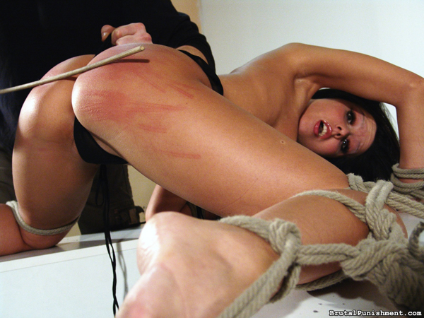 Horny pain slut Nicole gets a caning from her Master
