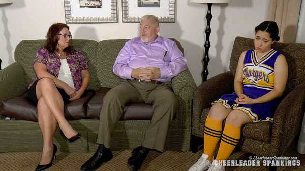 Cheerleader Mackenzie Reed is in trouble with mom and dad
