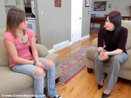 Abi is confronted by Kailee in the livingroom
