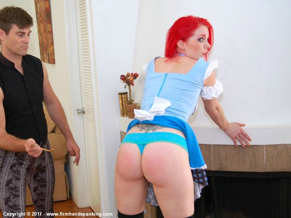 Alison Miller plays Alice in Wonderland who gets caned at Firm Hand Spanking