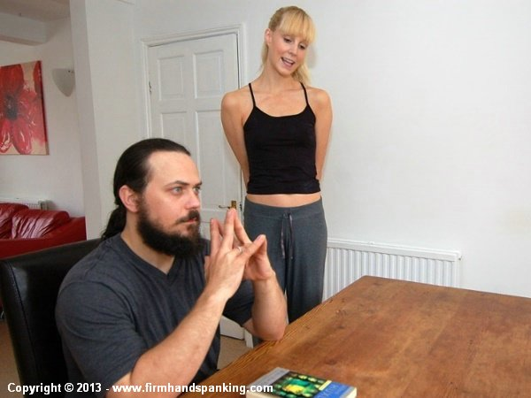 Ditzy Amelia Jane Rutherford is playful before her painful lesson
