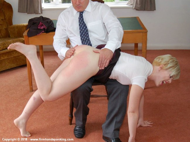 Helen Stephens gets spanked OTK by Earl Grey at the Reform Academy