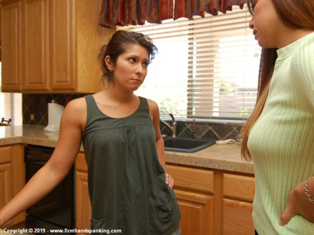 More trouble for Michaela McGowan in Houseguest from Hell at Firm Hand Spanking