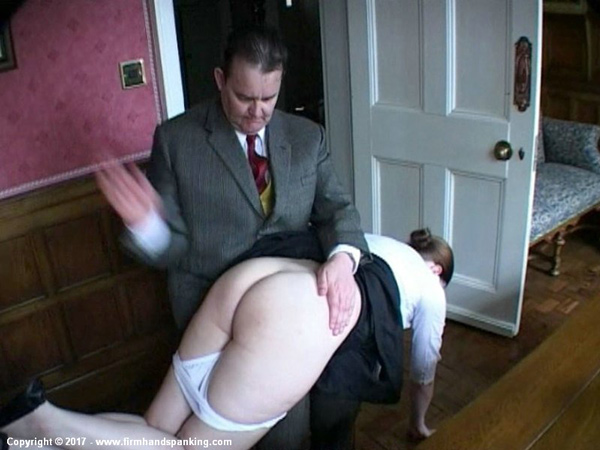 Pandora Blake gets a hard spanking from polite Henry Higgins