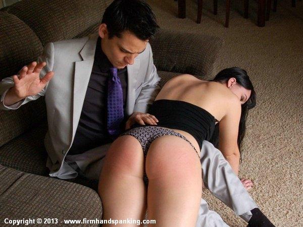 Sasha Harding gets her first ever spanking