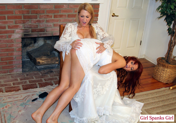 Wedding day spank