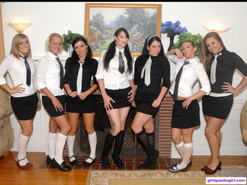 The girls of Exclusive Education 4 line up