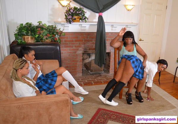 Chanell Heart gets spanked OTK in Exclusive Education 10