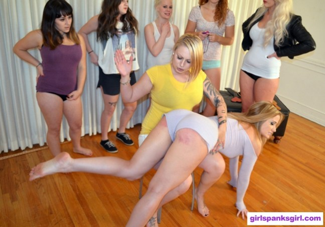 Tori Avano spanking Angela Sommers in Spank Club