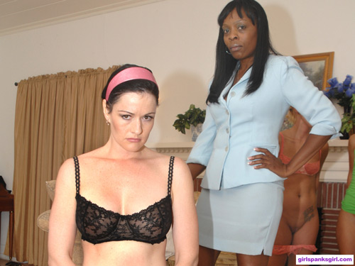 The tables are turned when teacher Snow Mercy gets stripped down by the Principal