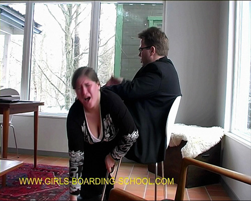 Maggy returns to Girls Boarding School and is spanked OTK