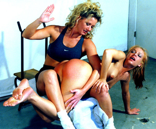 Eve Ellis gets spanked by personal trainer Johnni Black in Booty Training