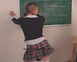 Schoolgirl Bare Bum Spanked