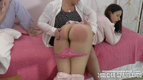 Sarah Gregory's big bare bottom gets a nice hard hand spanking from Miss Elizabeth