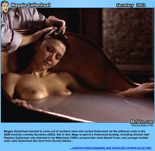 The bath scene from the Secretary