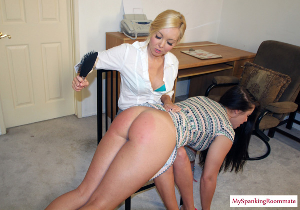 Aaliyah Love spanking Madison Martin in My Spanking Roommate
