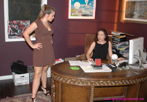 Madison Martin confronts Sinn Sage in the office
