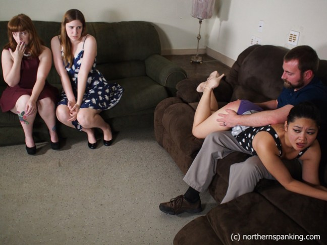 Ginger S and Alex Reynolds watch Koko Kitten get spanked in Not In Front Of My Friends!