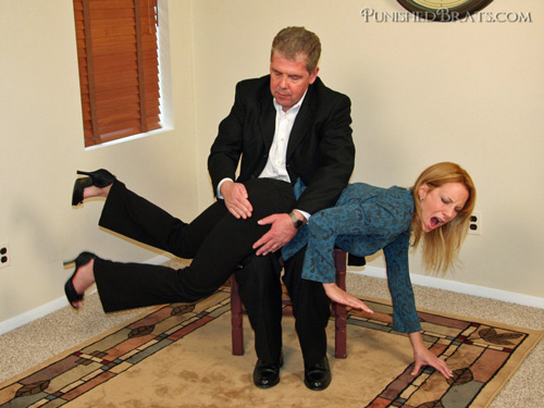 Pixie spanked OTK in Office Pals preview movies and photos