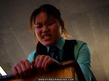 Asian Schoolgirl gets some English Discipline