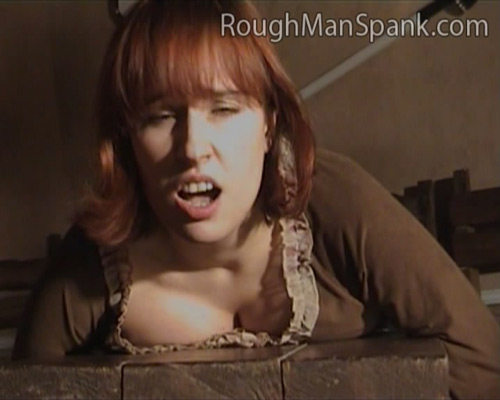 Busty babe thrashed while lying on the bench