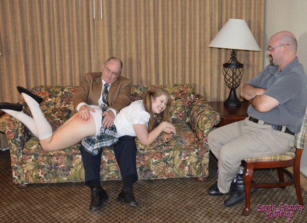 Principal Rogers gives Christy Cutie a hard OTK spanking