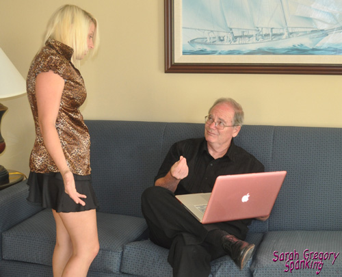 Kat St James has to explain herself when Paul finds the laptop is all sticky